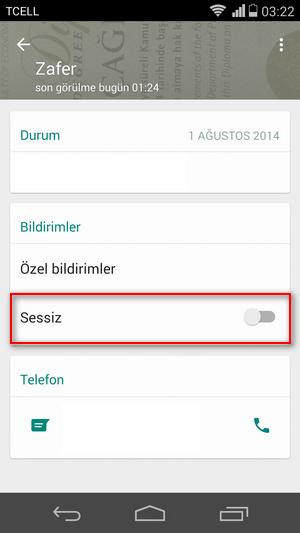 Whatapp Sessiz 2